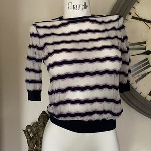 CARVEN S KNIT SHORT SLEEVE PULL OVER